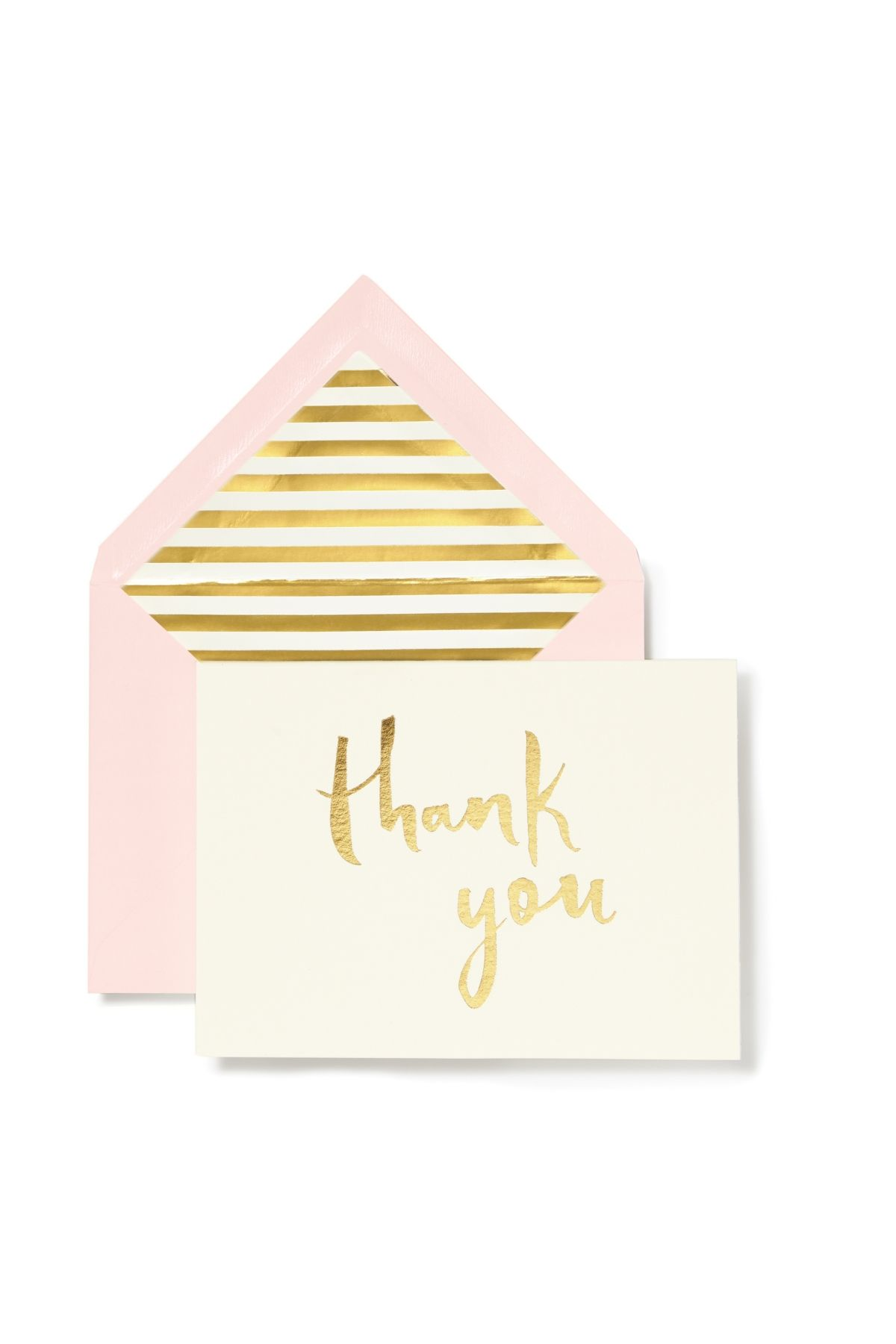 Kate spade new york note card set thank you blush with