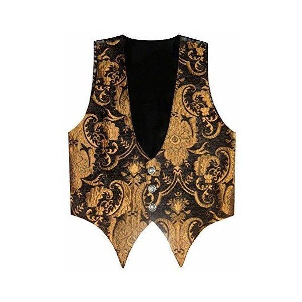 Victorian Vagabond Steampunk Brocade Gothic Mens Vest Black