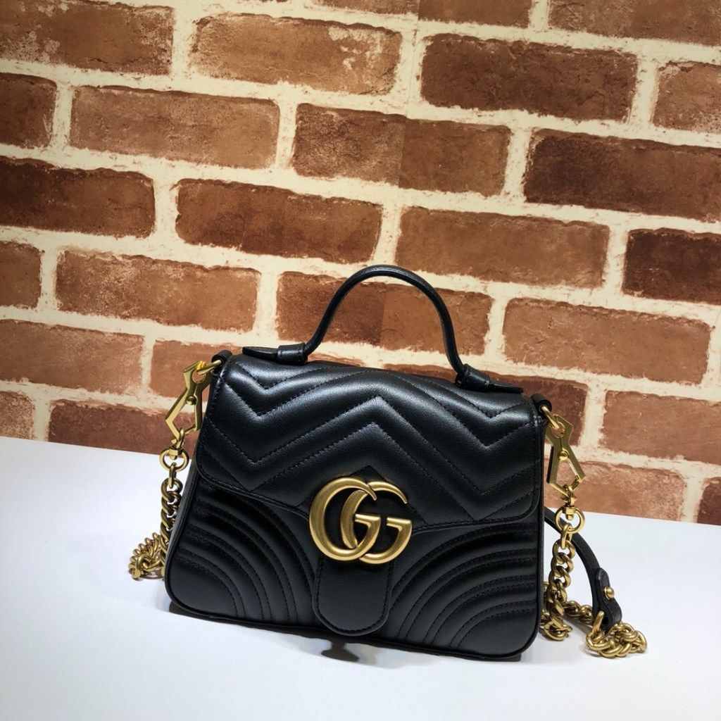 Gucci GG Marmont mini top handle bag 547260 Black  2407705a94a31