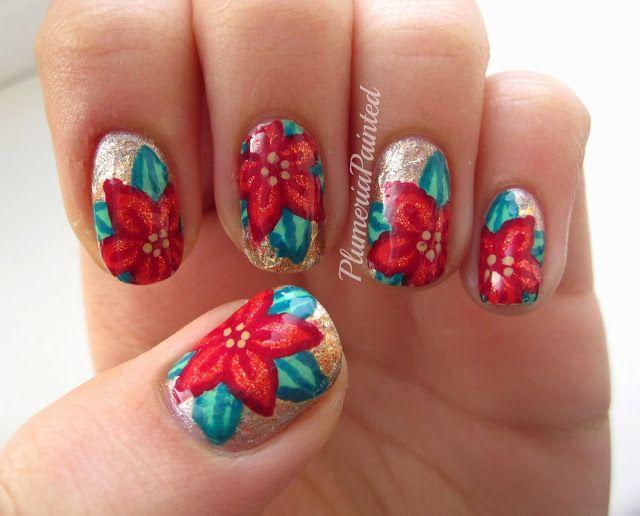 PlumeriaPainted: Poinsettia #nail #nails #nailart   Nails ...