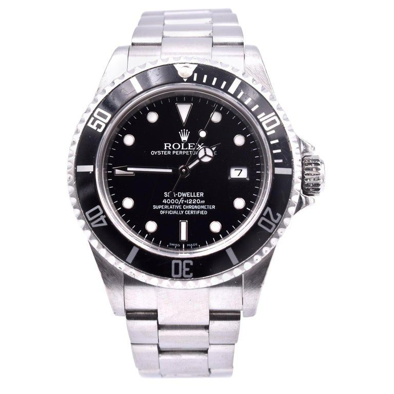 Rolex Stainless Steel Sea Dweller Watch Ref. 16600 #stainlesssteelrolex