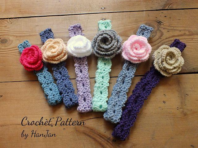 Ravelry crochet flower headbands in 6 sizes baby to adult pattern pretty flower headbands pattern by hannah cross mightylinksfo