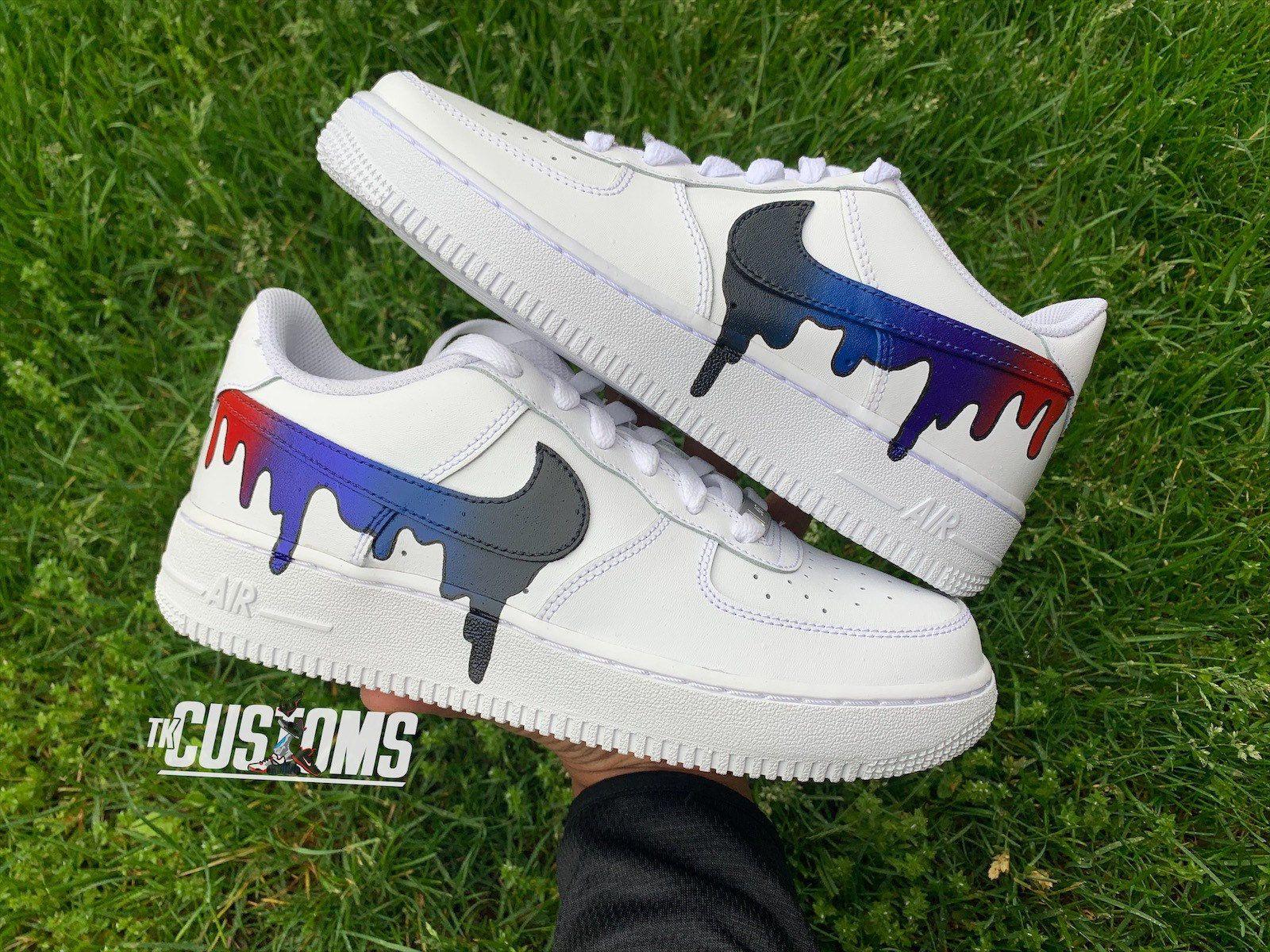 Custom Nike Air Force 1 Drip in 2020 Nike air shoes