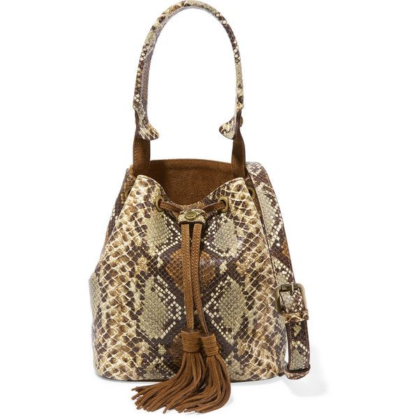 c581eab53cc7 Sandro Sandro snake-effect leather shoulder bag (£252) ❤ liked on Polyvore