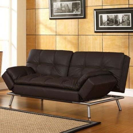 Medium image of belize java bonded leather euro lounger by lifestyle solutions adjustable arm