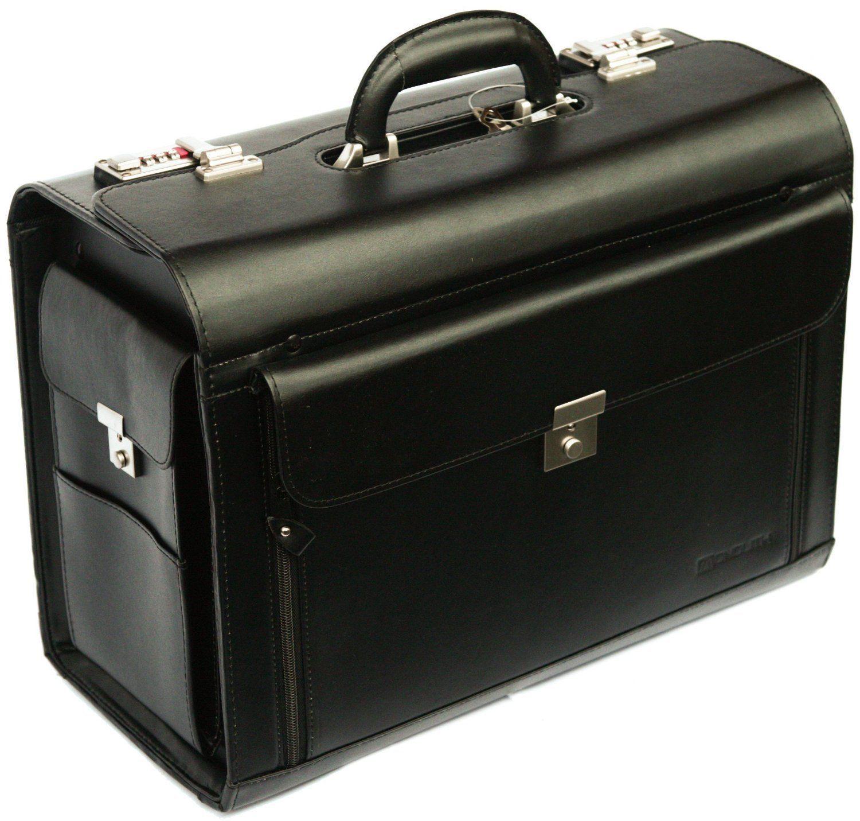 Hard Business Black Executive Laptop Travel Work Flight Pilot Bag Case Briefcase