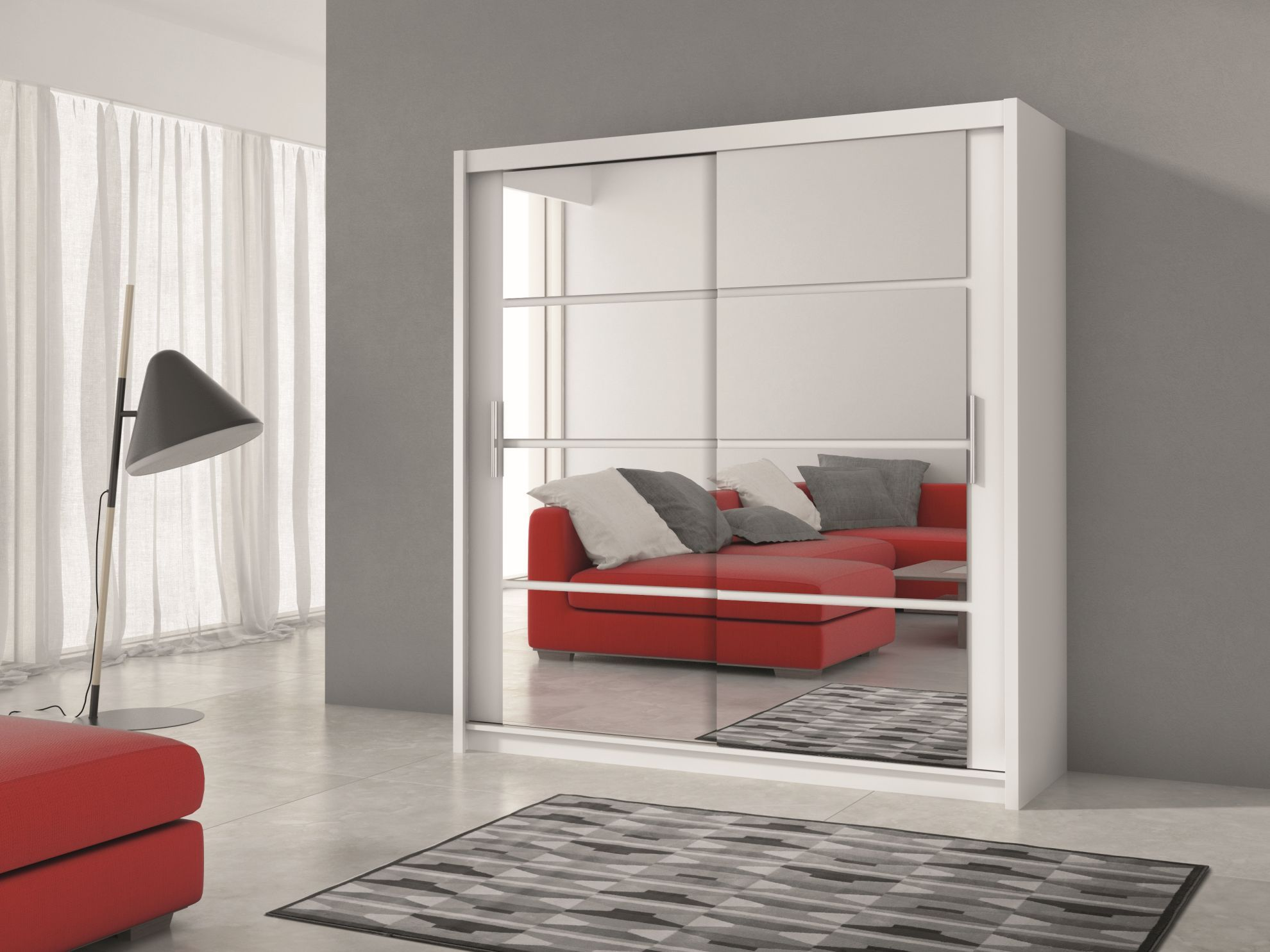Hallway furniture oak Derby   White wardrobe with mirror  Hall console table Hall
