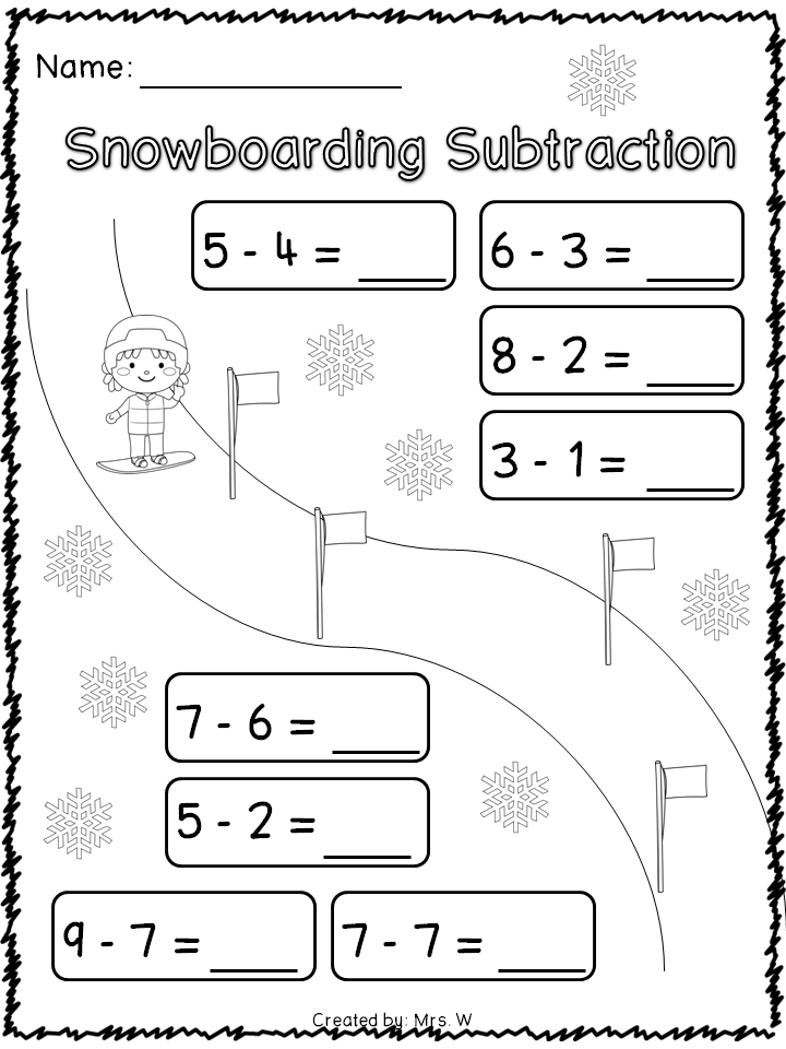 Winter Sports Literacy and Math Printables | Winter sports, Literacy ...
