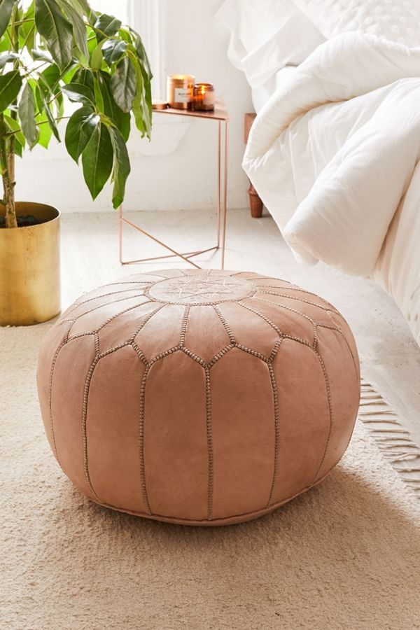 Traditional Leather Floor Pouf URBAN OUTFITTERS PILLOWS Gorgeous Pouf Urban Outfitters