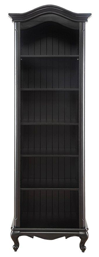 Formosa Living Products Provence Open Bookcase Distressed Black
