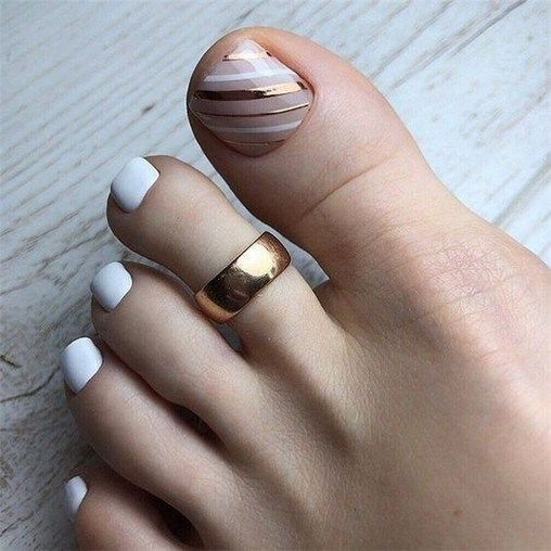 25 best toe nails design ideas for spring and summer style 24 – InspireandIdeas