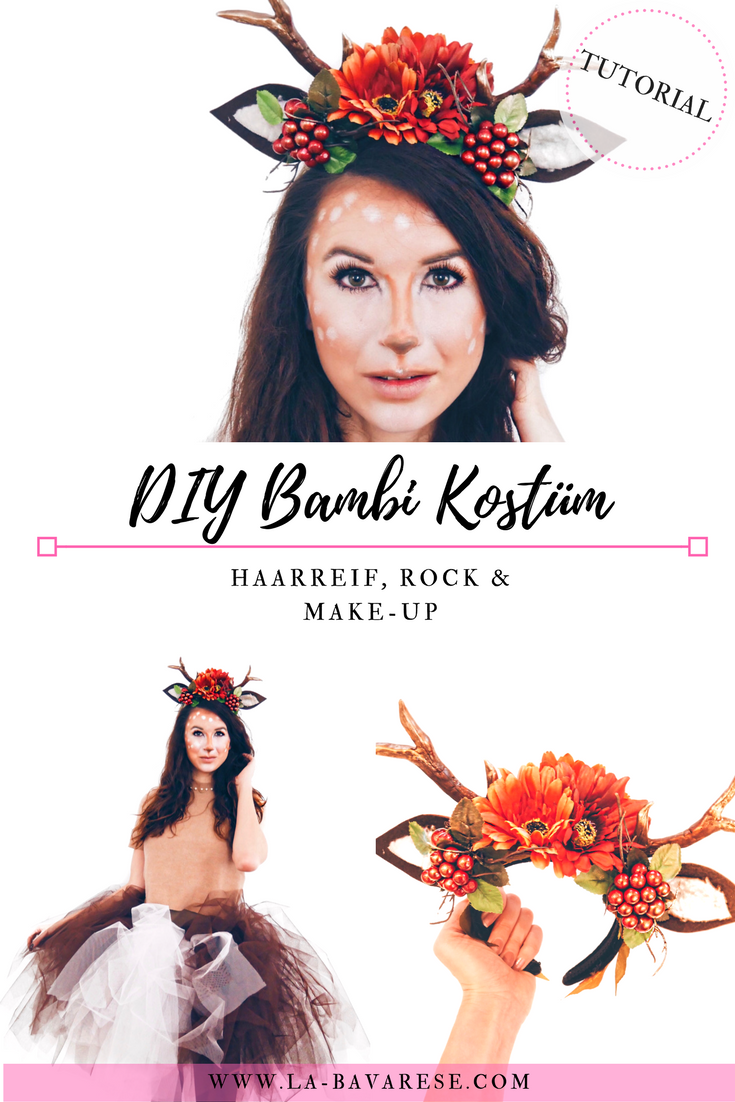 DIY Bambi Kostüm - Haarschmuck, Make-Up und Tüllrock #kidshairaccessories