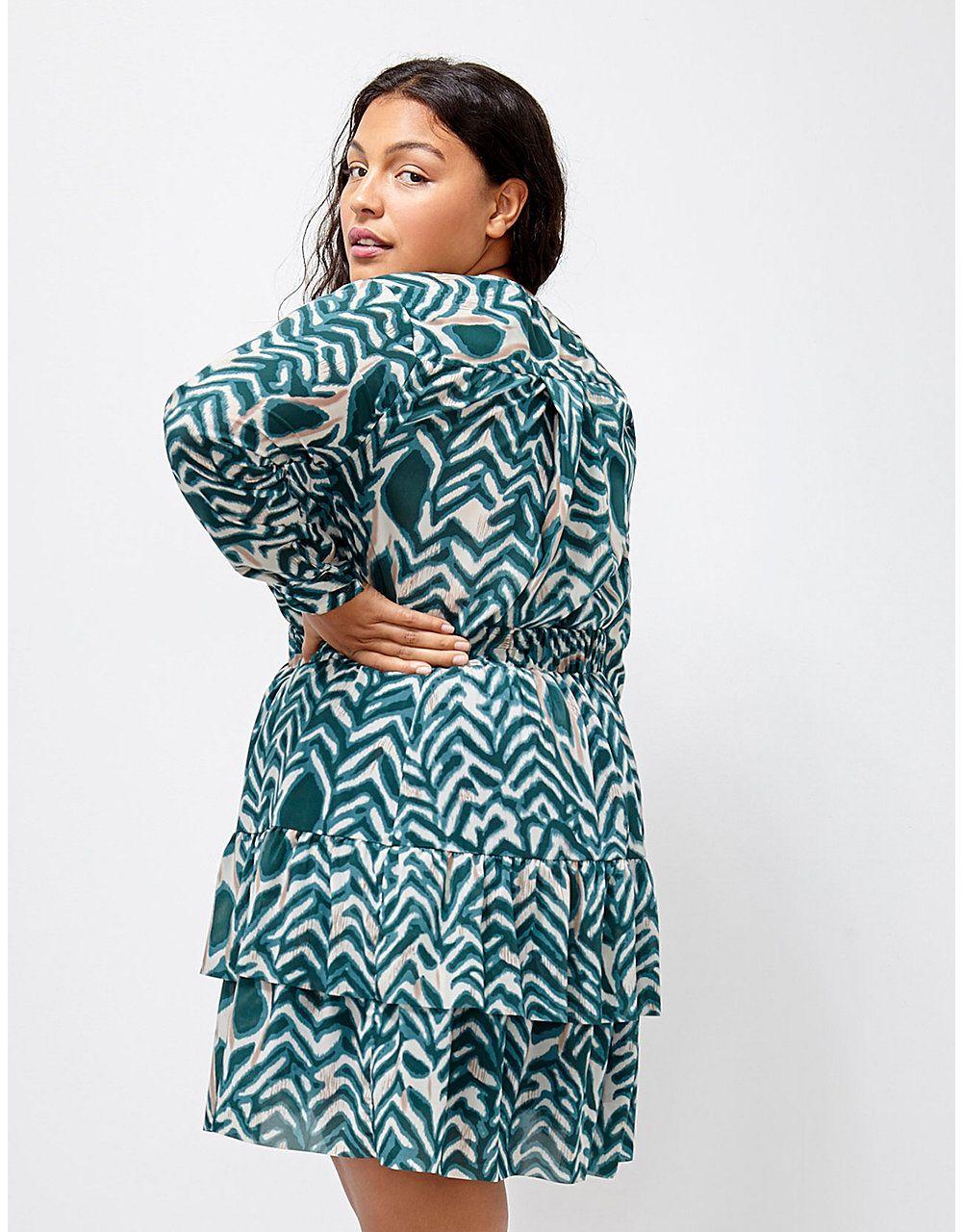 6th & Lane Zebra-Print Tiered Skirt | Lane Bryant | Lane Bryant ...
