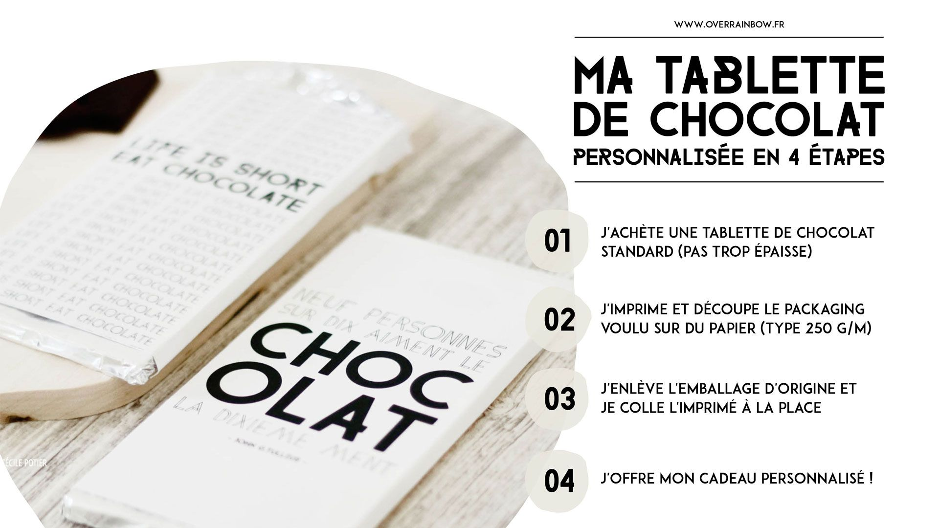 Assez Packaging tablette de chocolat à imprimer | DIY | Mes freebies  PX56
