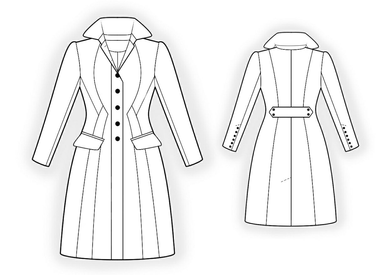 Waisted coat sewing pattern 4298 made to measure sewing waisted coat sewing pattern 4298 made to measure sewing pattern from jeuxipadfo Gallery