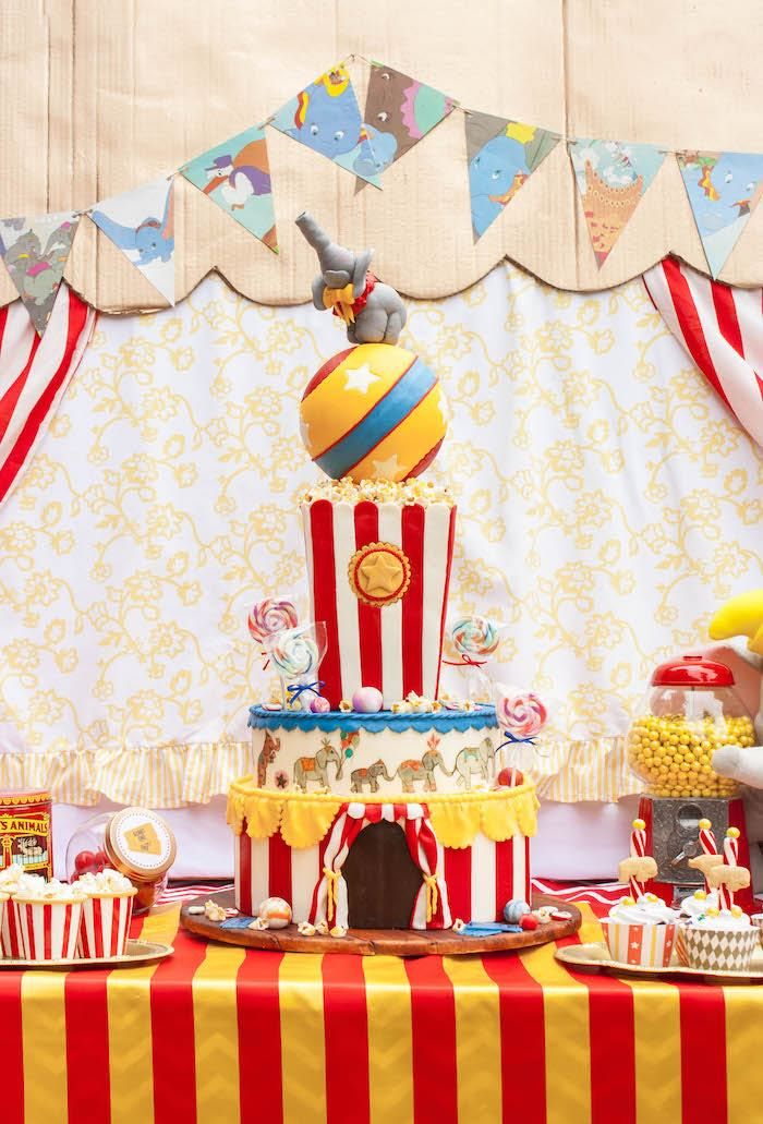 Amazing Party Cake From Dumbo Circus Birthday Bash At Karas Party - Circus birthday party ideas pinterest