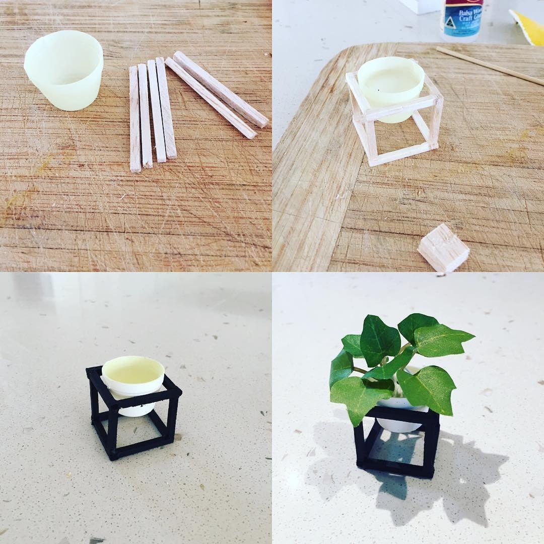 Mini pot plant #modernminiatures #dollhouserenovation #dollhousediy ...