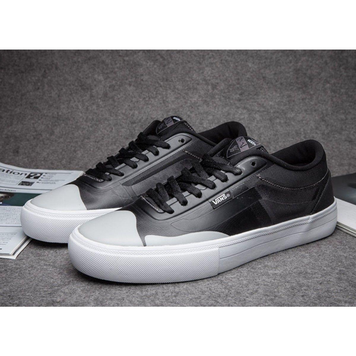 9a177d63d6 Vans AV Rapidweld Pro Lite Black White Leather Skate Shoes  Vans ...