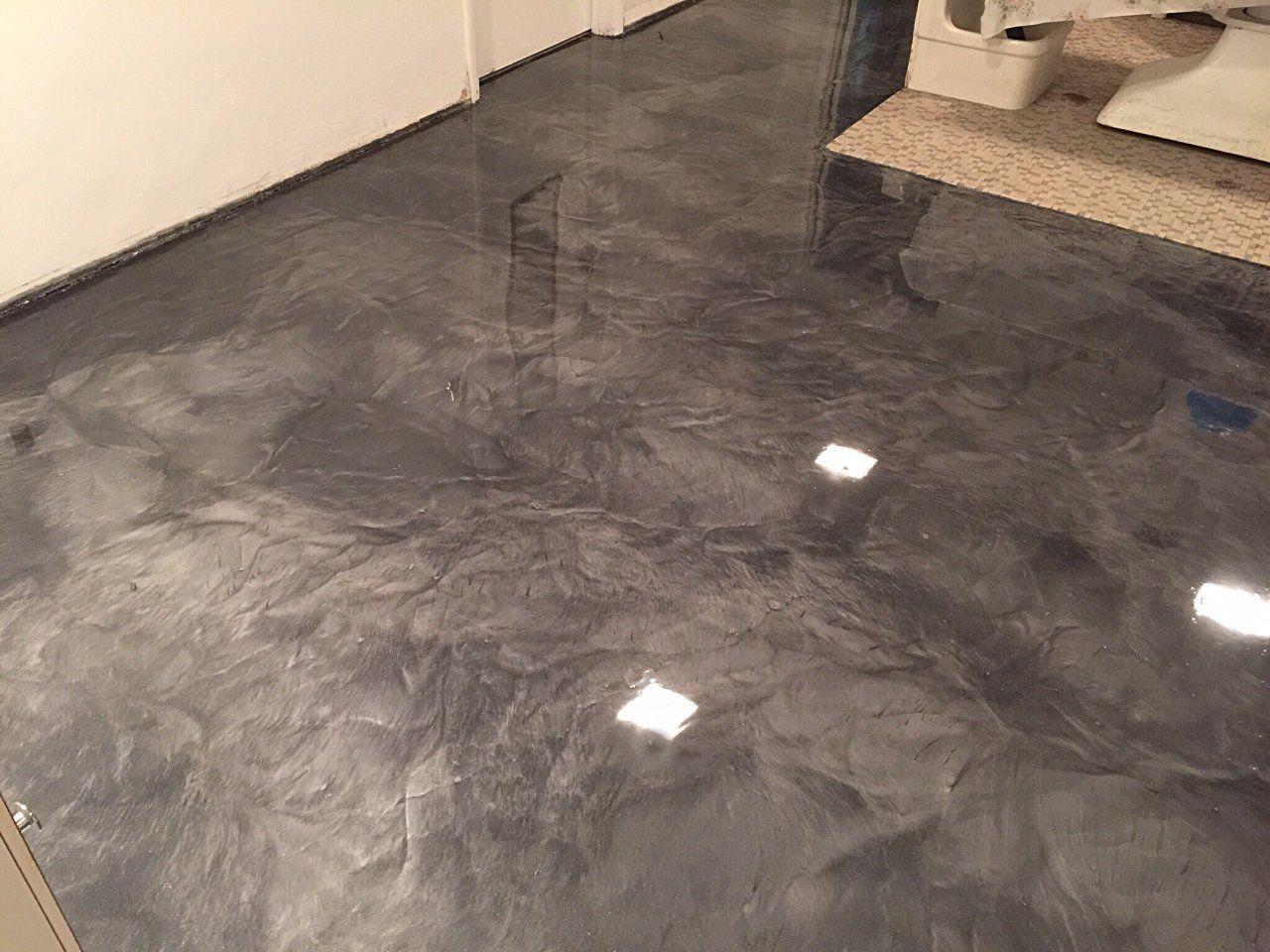 Metallic marble epoxy flooring Fostoria Ohio gallery
