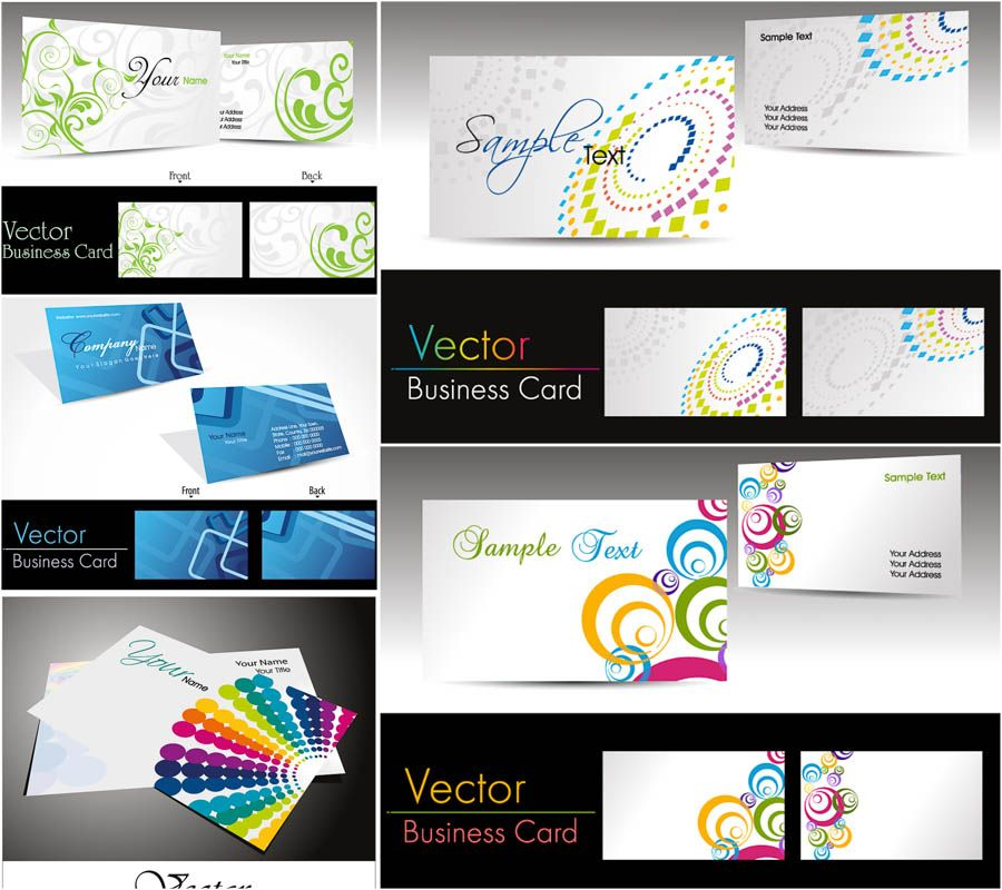 Business cards vector designs free vector graphic resources business cards vector designs reheart Image collections