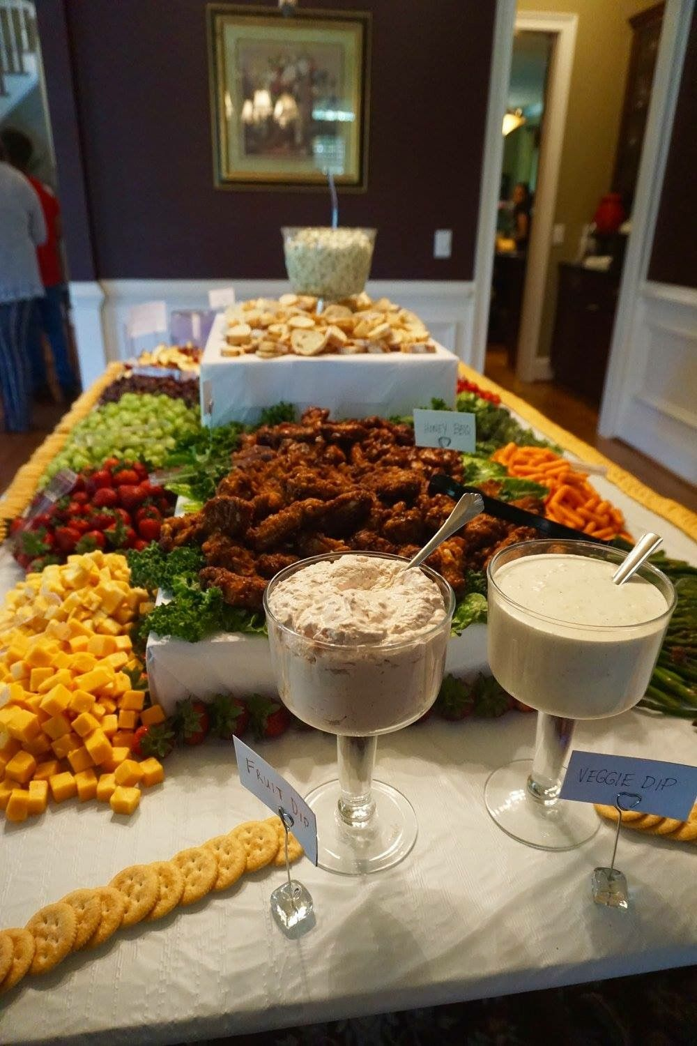 Decorative bar Food display, Appetizers for party