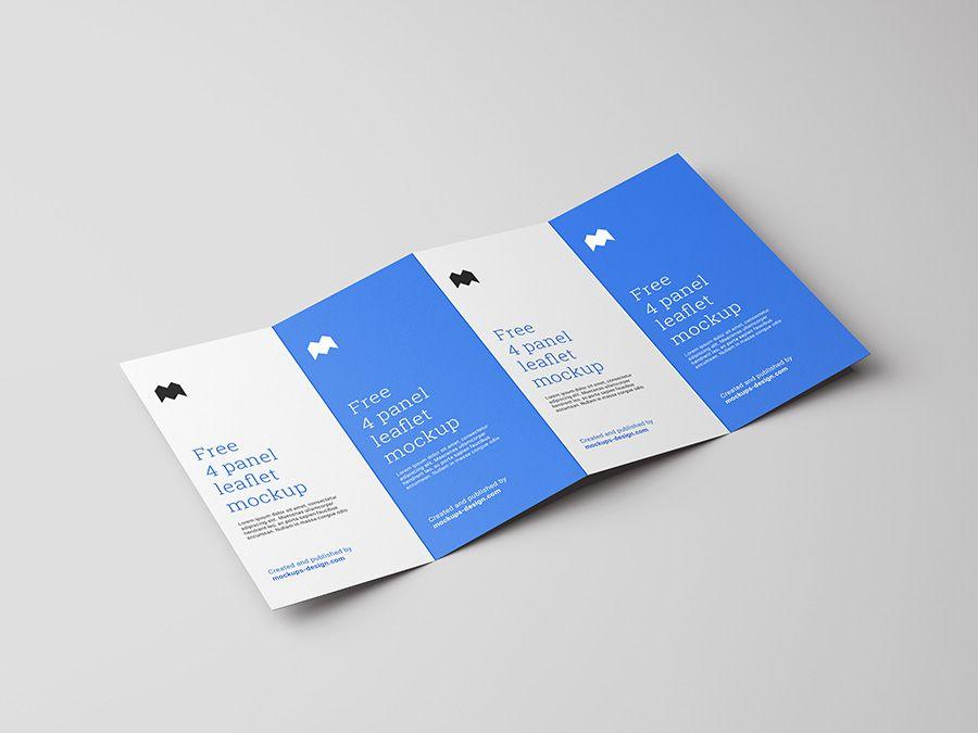 Free 4 Fold Leaflet Mockup Mockups Design Free Premium Mockups Leaflet Leaflet Template Design Mockup Free