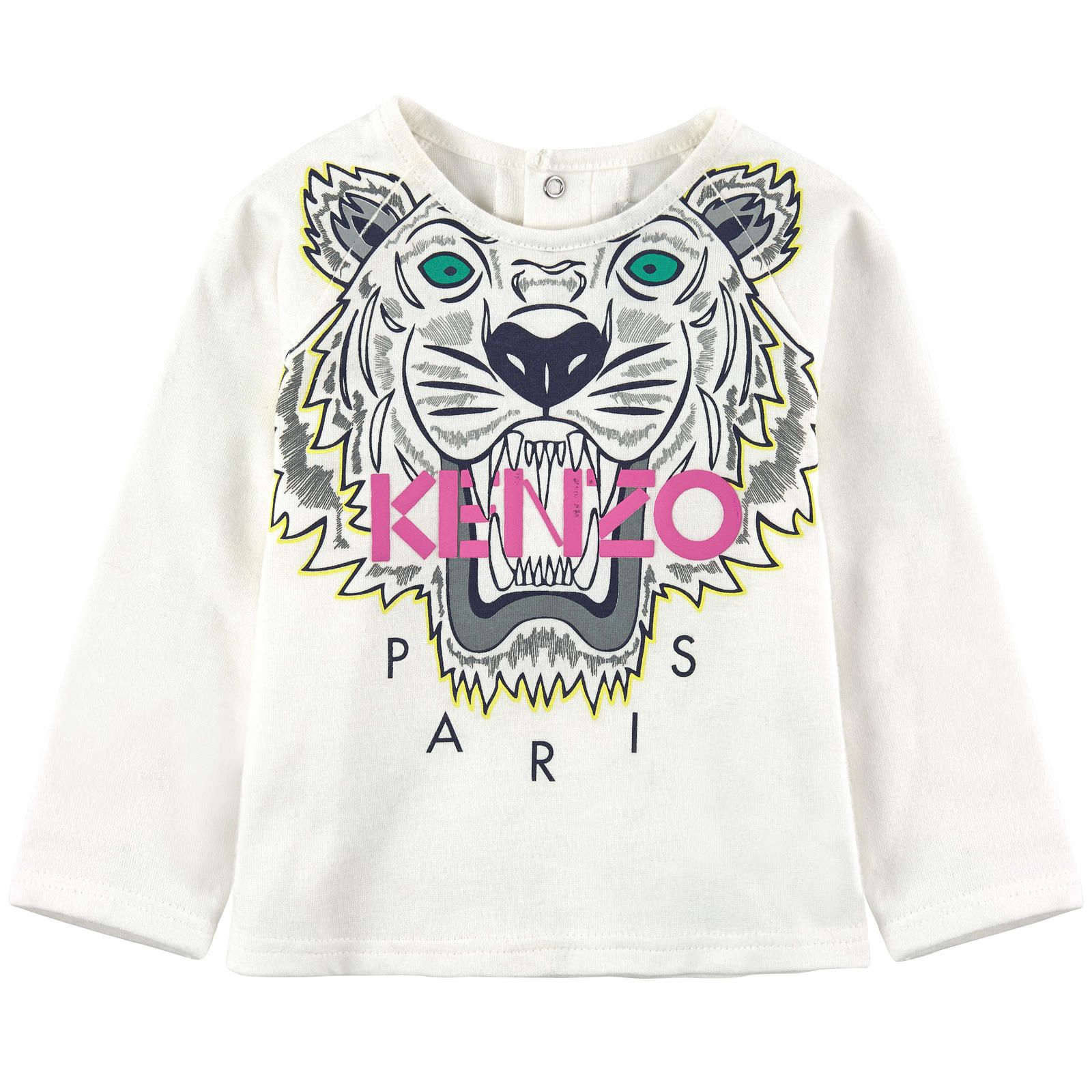 Kenzo Kids Tops and T shirts Tiger jersey T shirt