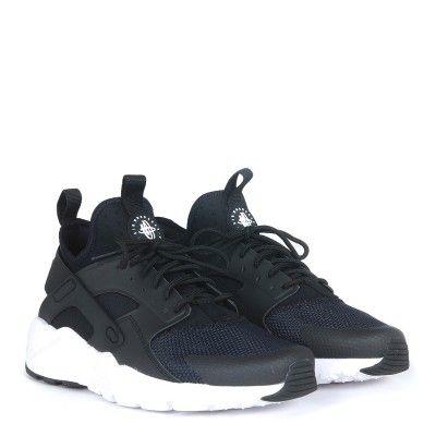 laterale sneaker nike air huarache run ultra in tessuto nero