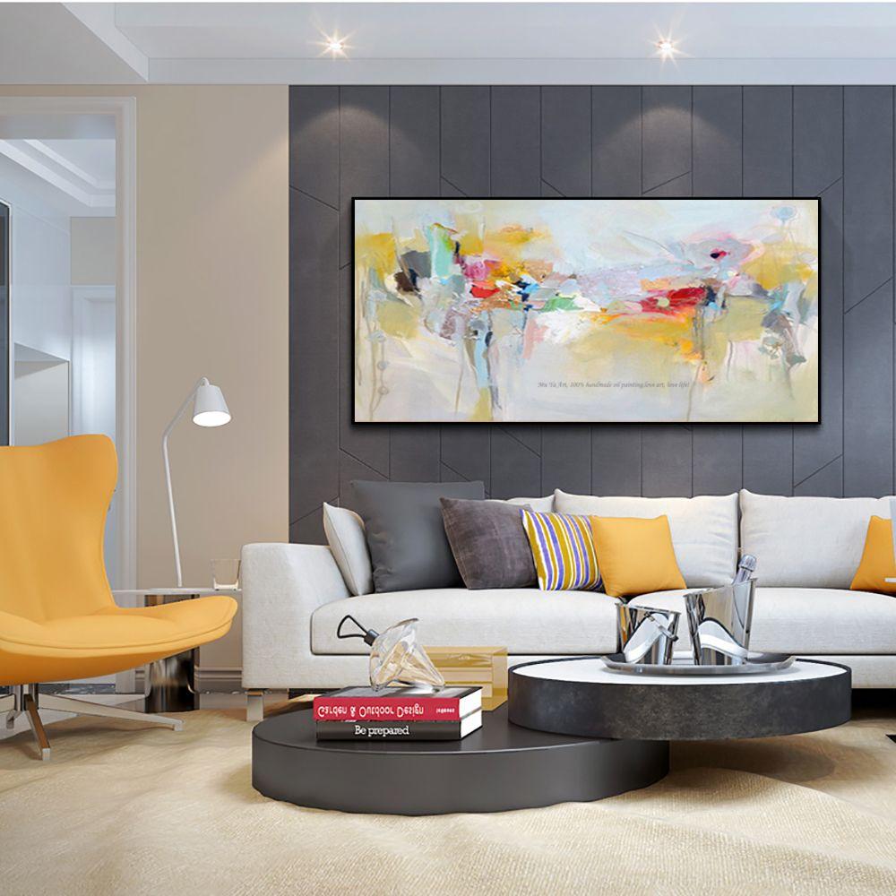 Duza Wall Art Canvas Malarstwo Akrylowe Nowoczesne Obrazy