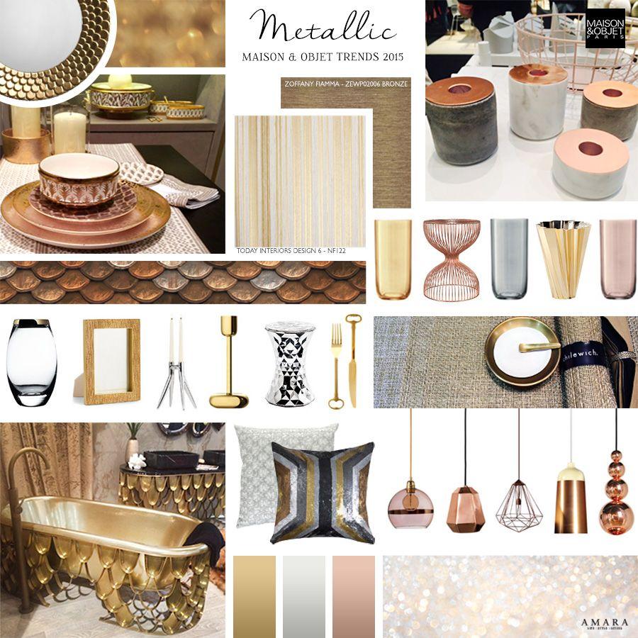 tuesday trending...maison et objet 2015 | #metallic | @meccinteriors | design bites | #designtrends #2015trends