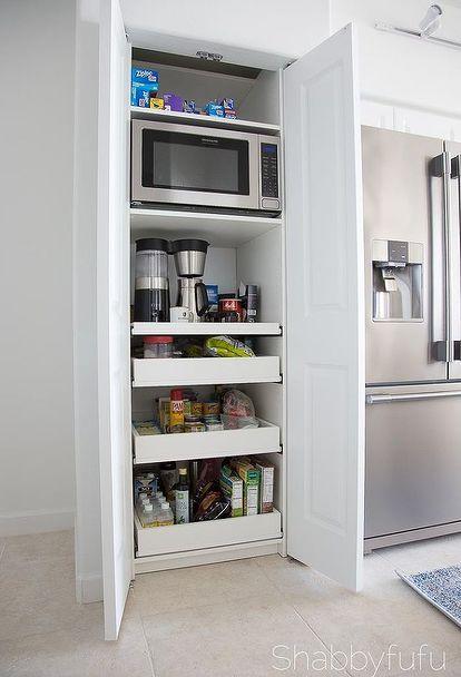 Sensational Hideaway Coffee Bar Microwave Station Diy Kitchen Ideas Download Free Architecture Designs Grimeyleaguecom