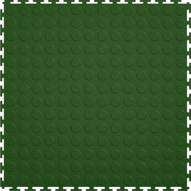 Perfection Floor Tile�20-1/2-in W x 20-1/2-in L Forest Green Raised Coin Garage Flooring Tile