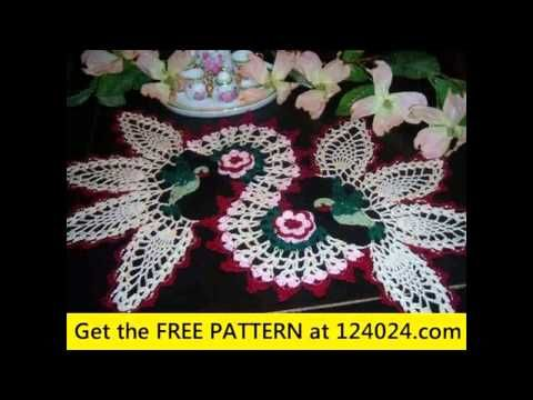 free crochet doilies patterns - YouTube