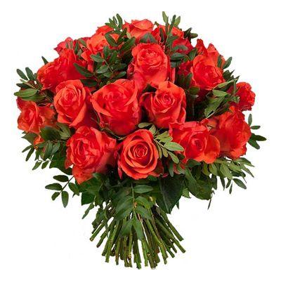 Bouquet de fleurs - Aquarelle.com Superbes roses rouge carmin