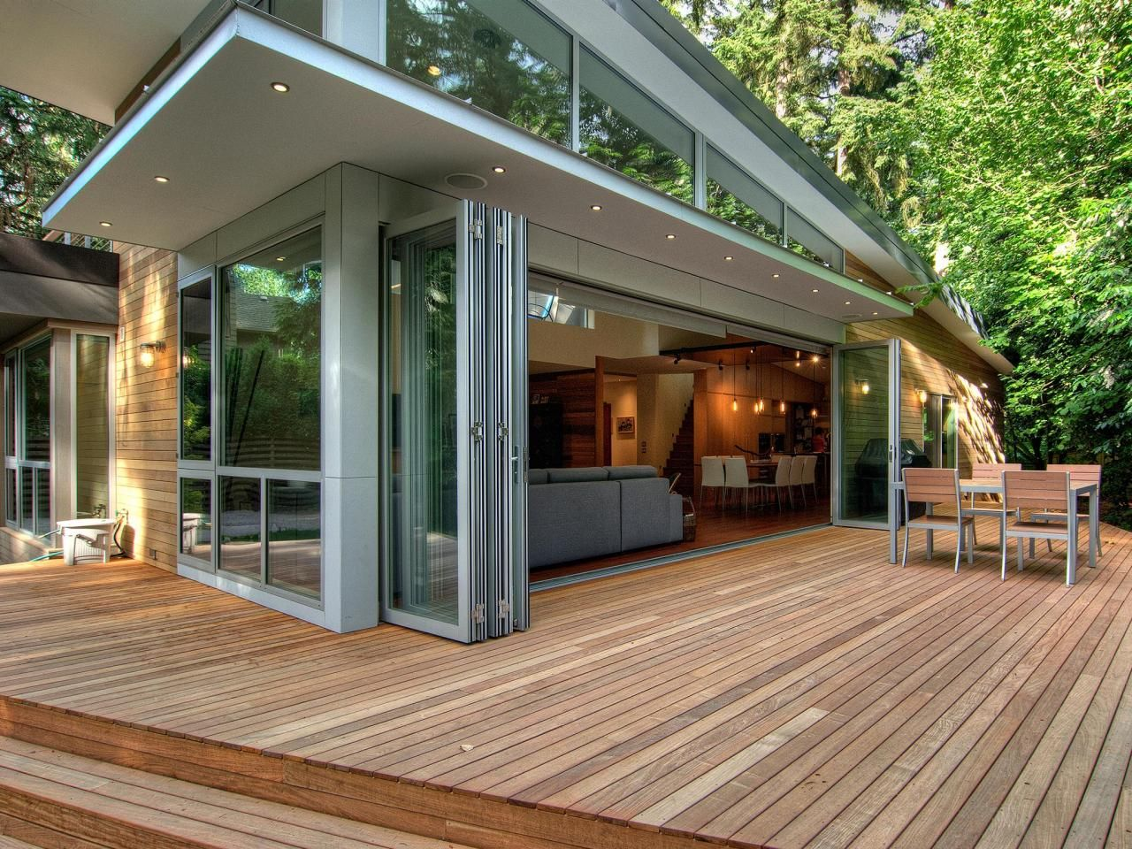 Folding glass doors patio - Custom Deck Options