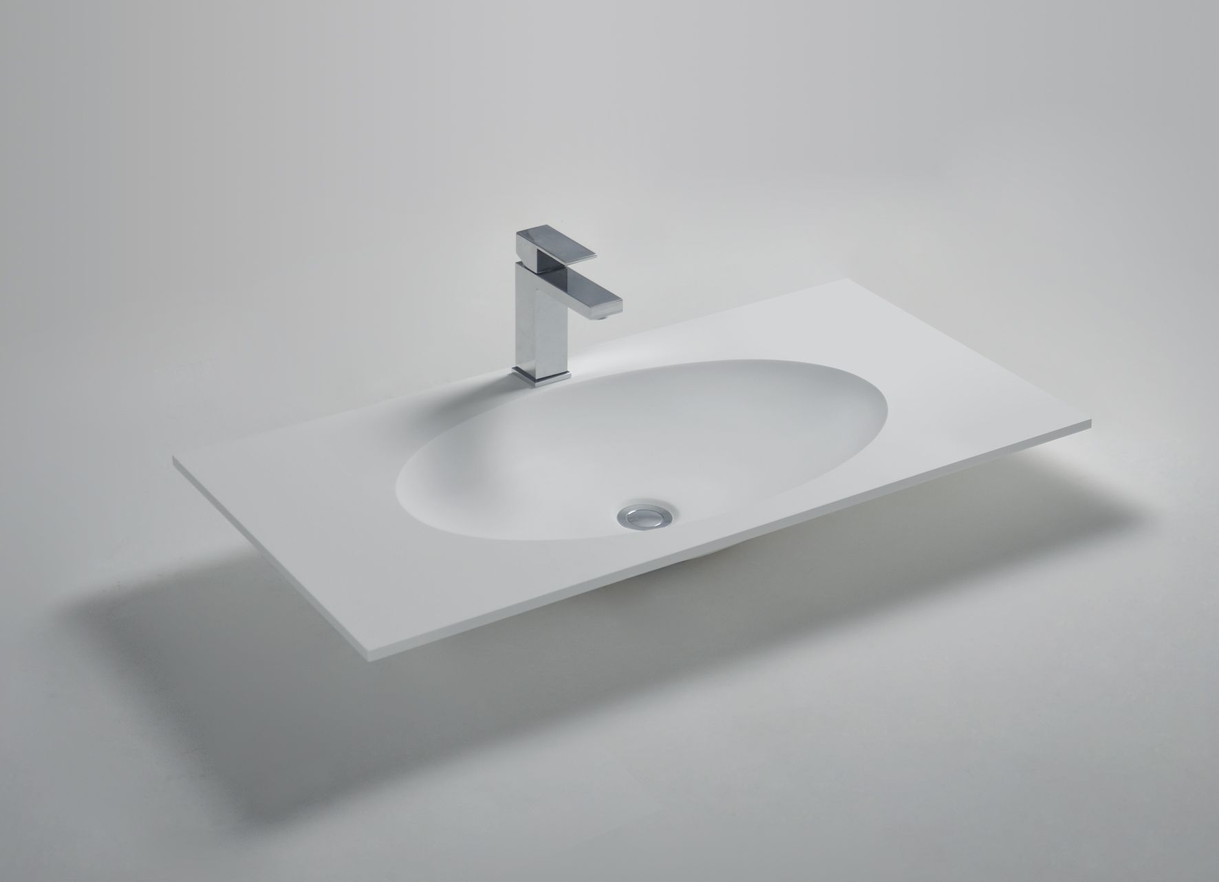 Countertop with Oval basin (Fabricated) Solidzelig Size ...