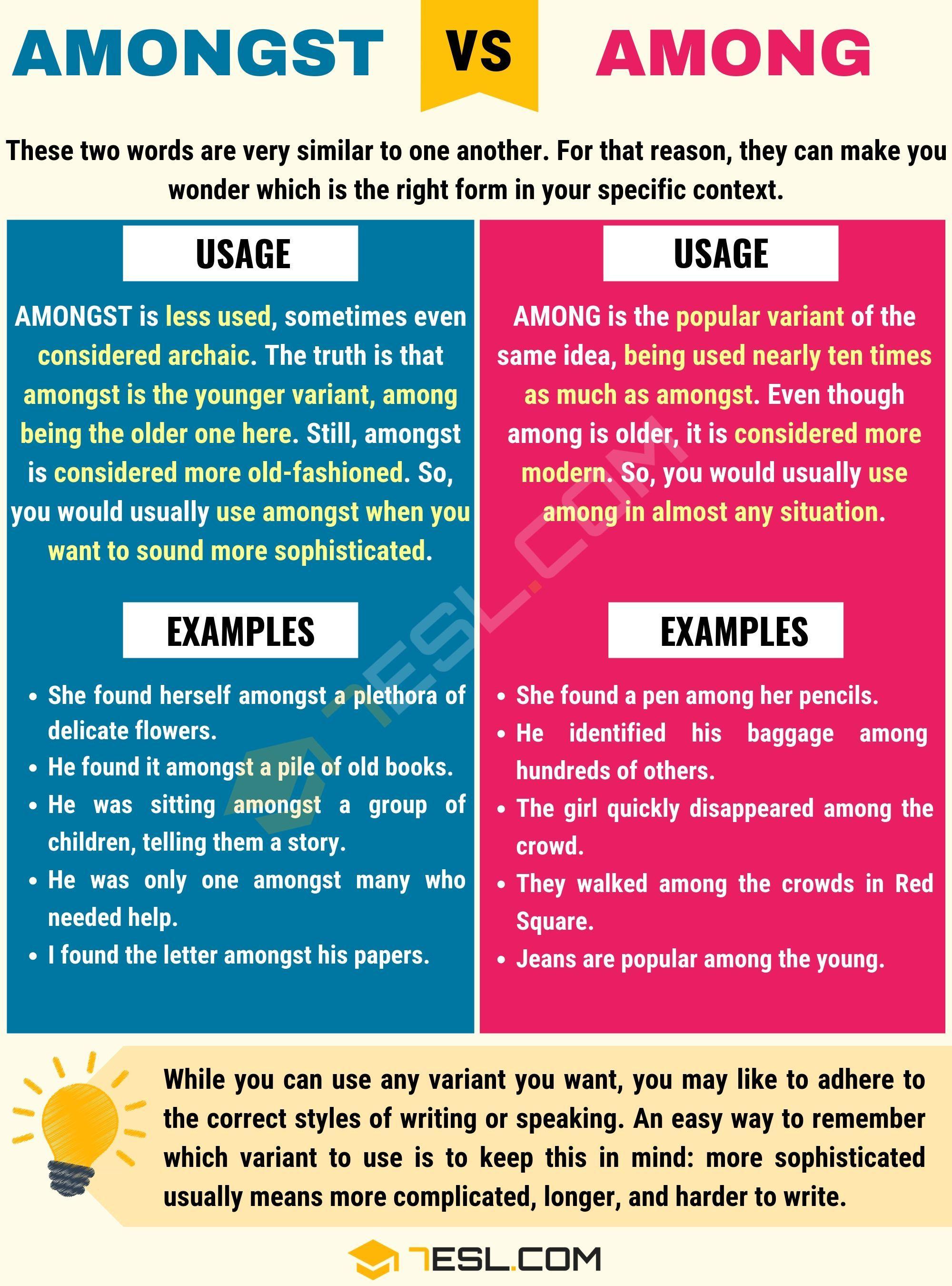 Among Vs Amongst How To Use Amongst Vs Among Correctly