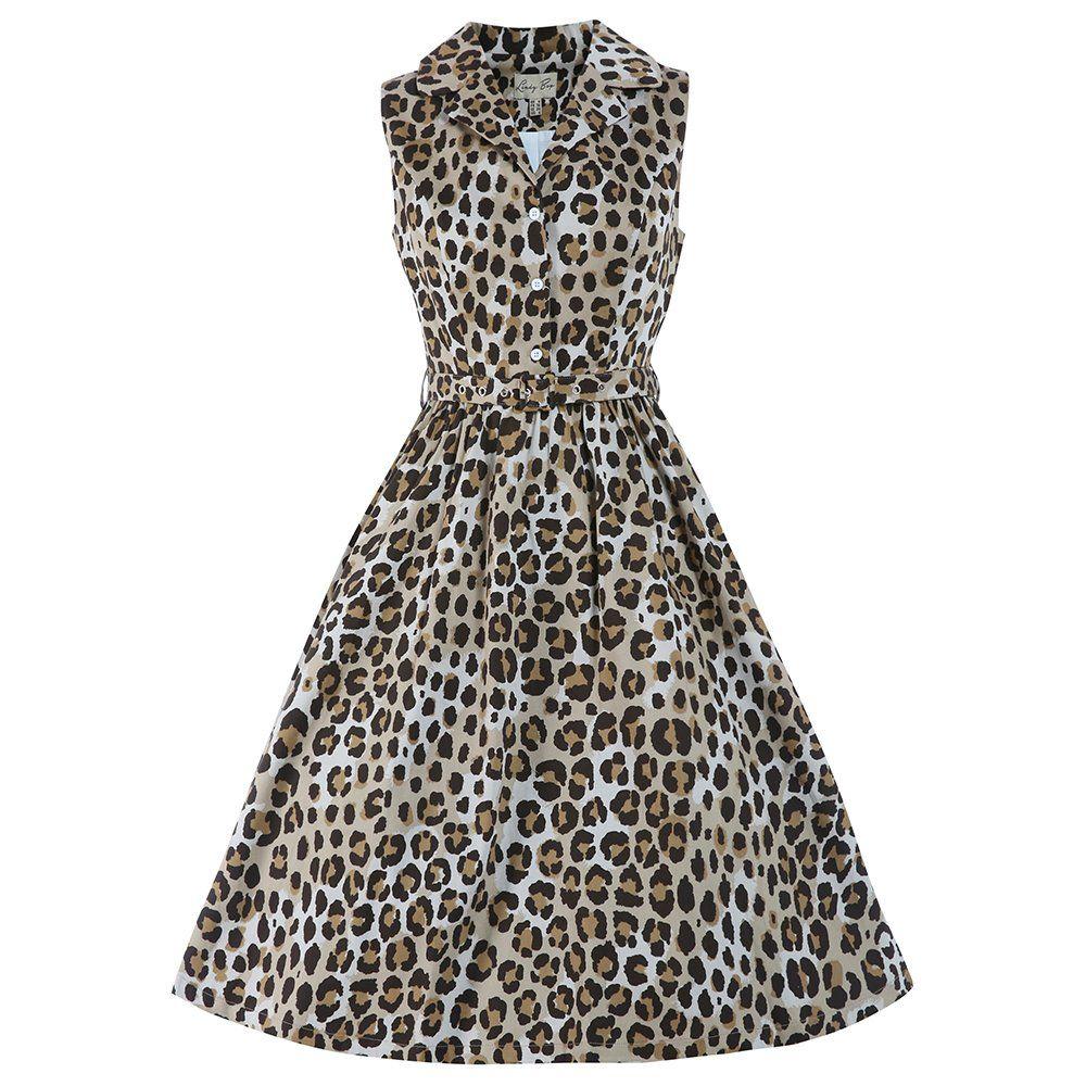 3821eeabc75 Matilda Leopard Print Shirt Dress