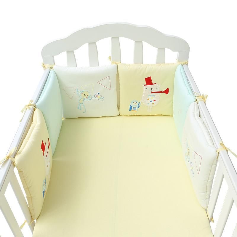 Soft Cotton Bumpers Baby Bedding Newborns Toddler Bed Protection Bed Around Cushion Baby Bumpers Baby Bed Baby Crib Bumpers Crib Safety