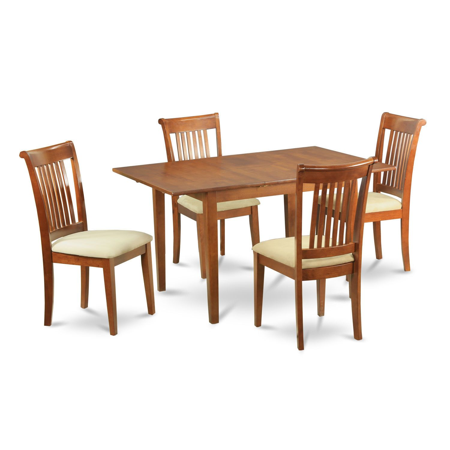 5Piece Dinette Set Small Dining Table And 4 Chairs Brown Size Custom Size Of Dining Room Table For 10 Design Ideas