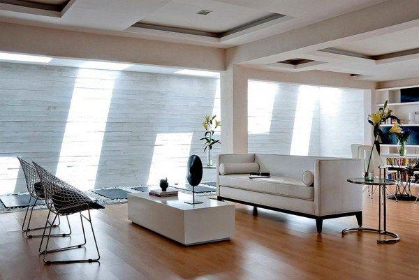 Hofhaus Design von Buensalido Architekten - Wohnzimmer Design - wohnzimmer design steinwand