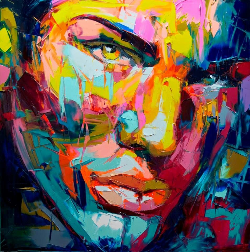 Francoise Nielly Art Face Oil Painting Portrait Painting Painting