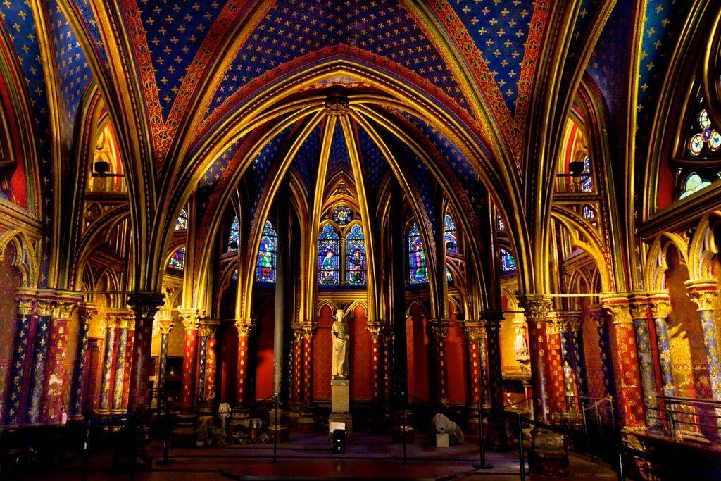 Sainte-Chapelle in Paris Lower Part