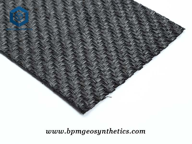Pet geotextile woven fabric is made of pre-stressed multi