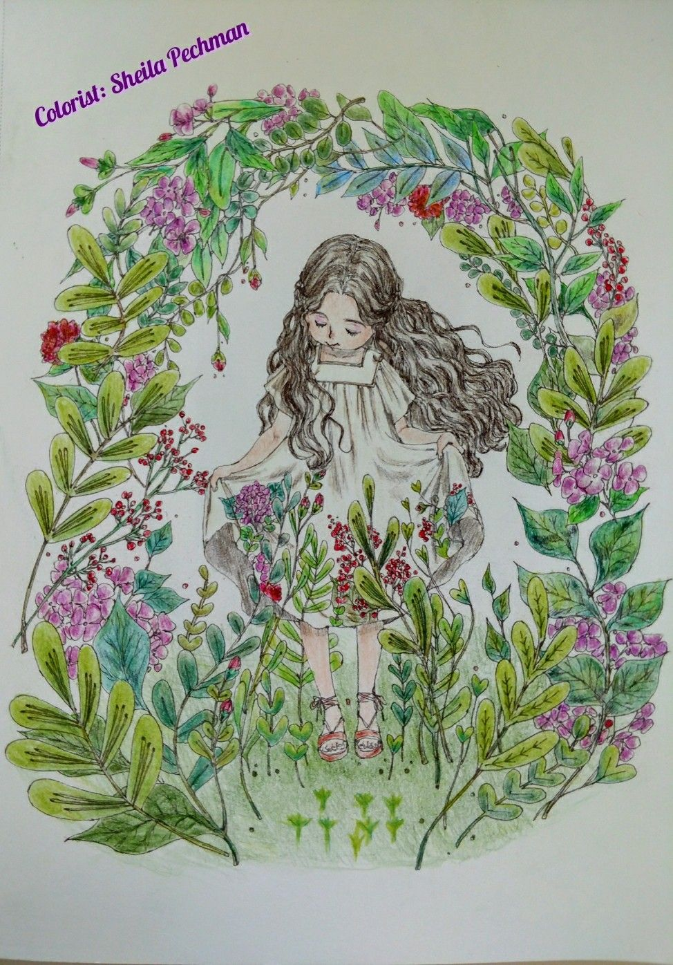 Forest Girl\'s Coloring Book Artist: Aeppol Colored by me on ...
