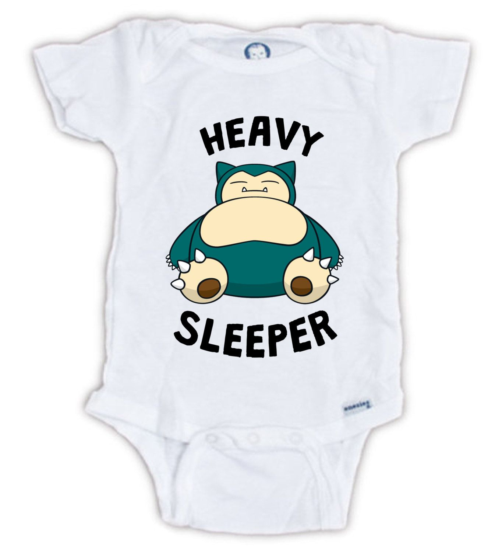 SNORLAX Baby esie Snorlax Heavy Sleeper Pokemon Baby Bodysuit