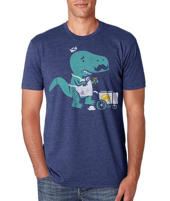 Mens Funny T Rex Shirt Tee Shirt TShirt Cool Dinosaur Mustache ...