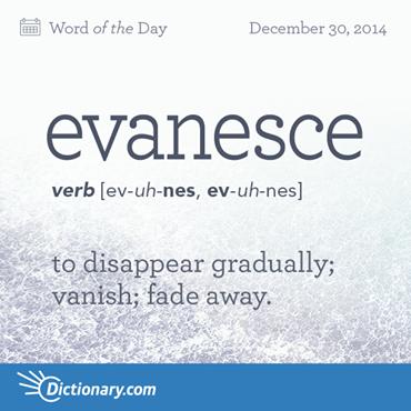Evanesce To Disappear Gradually Vanish Fade Away Words