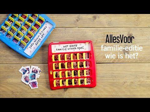 Hedendaags DIY spelletjes: een familiespel 'wie is het' maken met eigen foto& FR-97